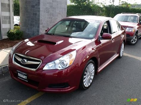 red subaru legacy 2010 ruby red pearl subaru legacy 2 5 gt limited sedan