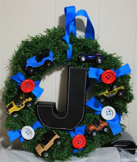 jeep wreath my baby boy s wreath j for joey and j for jeeps lol