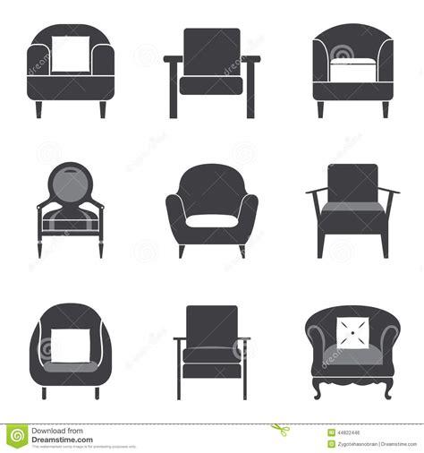 Home Elevation Design Free Download Sofa Icon Set Stock Vector Image 44822446