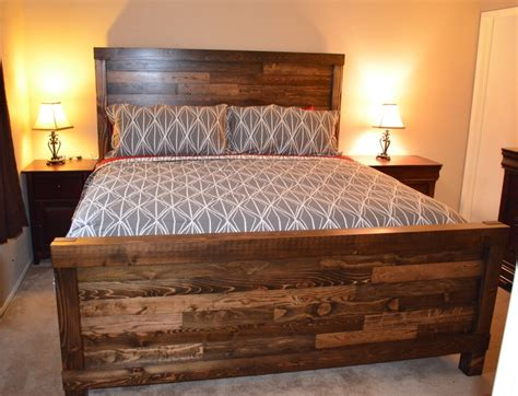 handmade king size farmhouse bed bed plans bed