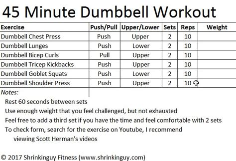 beginner dumbbell workout routine pdf eoua