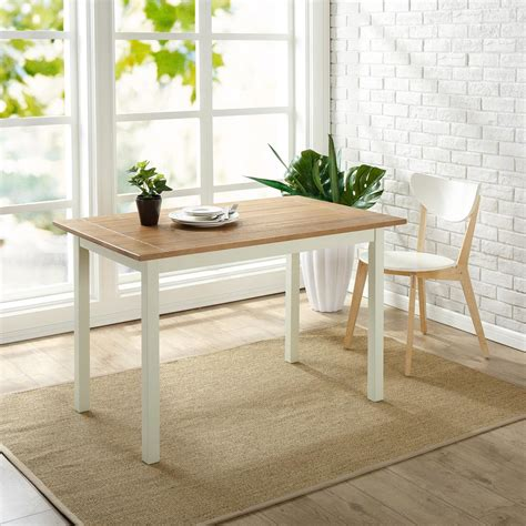 white farmhouse dining table zinus farmhouse white wood dining table hd dt f29 the