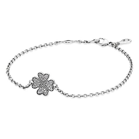 Pandora Symbol Of Luck Clear Cz P 99 pandora symbol of lucky in shamrock with clear cz