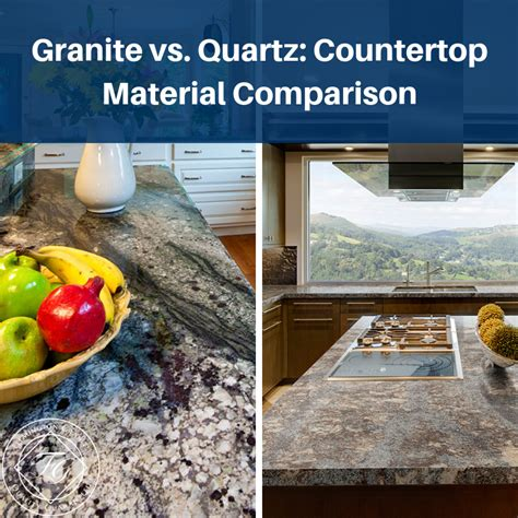Which Countertop Material Is Better Quartz Or Granite - granite vs quartz countertop material comparison