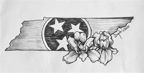 tennessee tattoos designs tennessee design with the state flower a beautiful