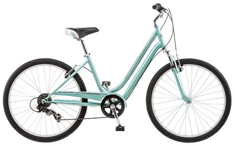 comfortable street bike schwinn suburan 7 speed women s comfort bike mint