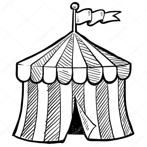 circus big top sketch stock vector 169 lhfgraphics 13923645