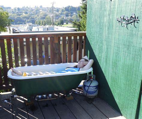 off grid bathtub off grid propane powered hot tub