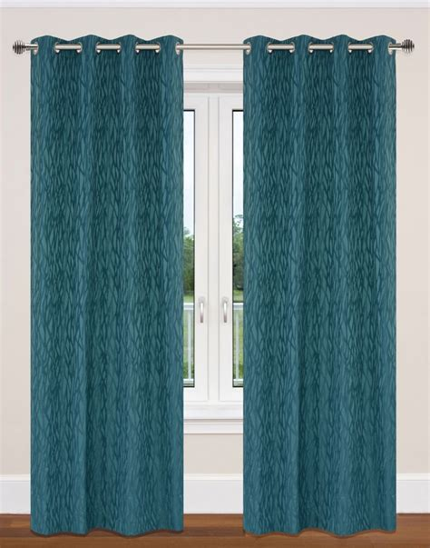 Teal Grommet Curtains Lj Home Fashions Delta 52x95 Inch Grommet 2 Pack Curtain Set Teal Blue The Home Depot Canada