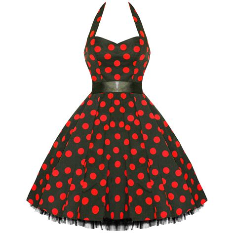 red polka dot swing dress ladies new red polka dot vtg 50s swing pinup party prom