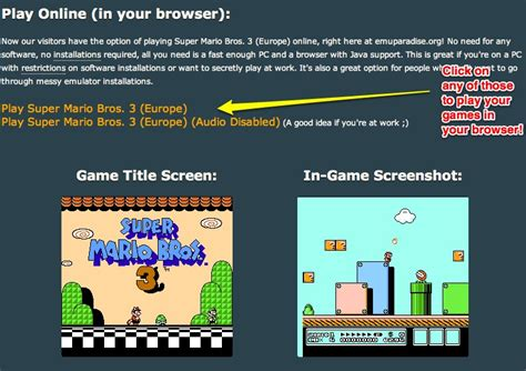 emuparadise online play console games in your browser