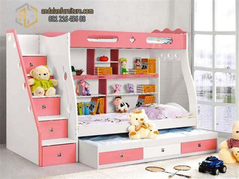 tempat tidur tingkat anak kembar perempuan minimalis bunkbed furniture jepara klasik perabot mebel ukir minimalis furniture jepara klasik