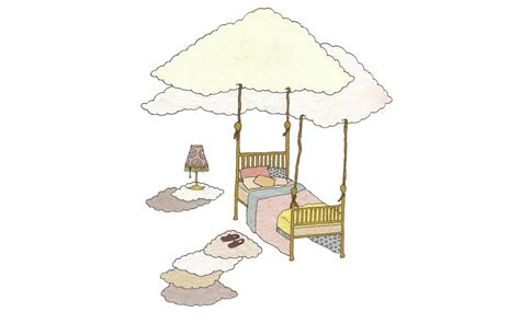 flying bed cartoon with flying bed roole
