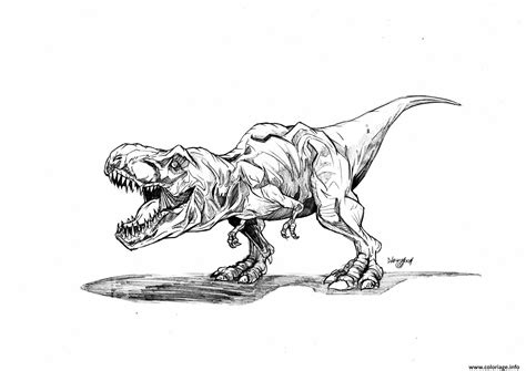 jurassic world coloring pages t rex coloriage jurassic park trex dessin