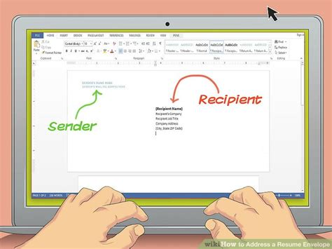 what to write on resume envelope how to address a resume envelope with exles wikihow