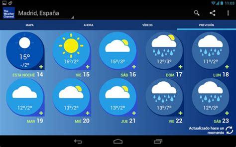 imagenes de weather en ingles the weather channel android descargar gratis