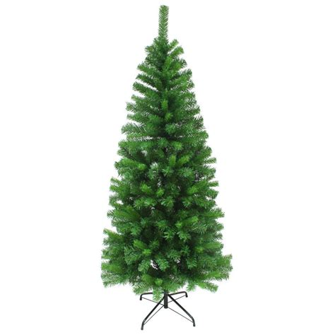 slim artificial pine christmas tree traditional indoor 4ft
