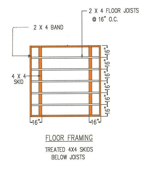 wood floor framing plan 15 best wooden shed plans images on pinterest gambrel