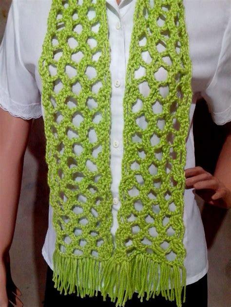 bufanda tejida crochet 2016 bufanda calada tejida a crochet