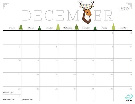 printable calendar december 2017 christmas cute and crafty 2017 printable calendar printable