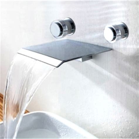 wall mounted faucet bathroom chrome finish wall mount waterfall bathroom faucet