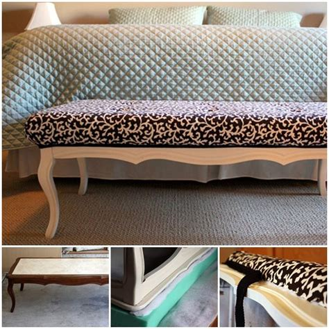 repurposed coffee table bench home decor ideas
