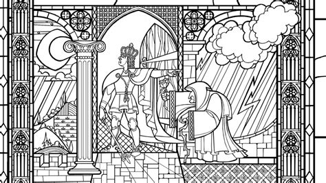 beauty and the beast window coloring page dismissed by infractiangelus