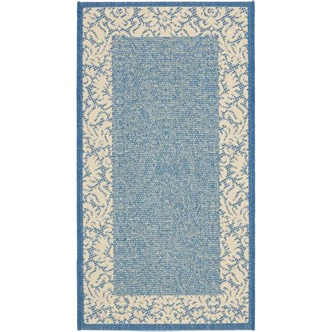 Home Depot Indoor Outdoor Rugs Safavieh Courtyard Blue 2 Ft X 3 Ft 7 In Indoor Outdoor Area Rug Cy2727 3103 2 The