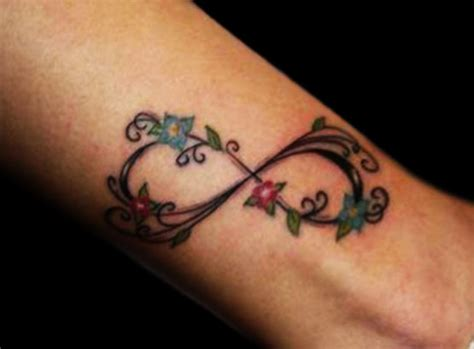 tattoo infinity flower infinity tattoo with flowers tattoo art pinterest