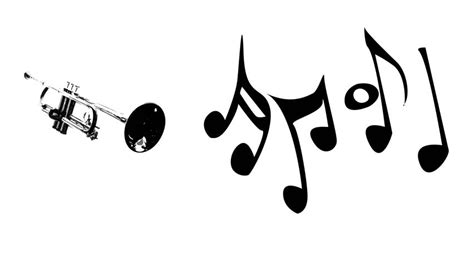music note head silhouette violin and music notes dancing silhouette on white