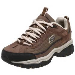 Scketcher Skechers Men S Energy Downforce Lace Up Brown Sneakers