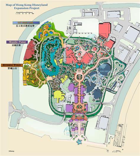 land layout design rules hong kong disneyland resort maps hotels theme parks