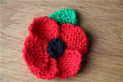 how to knit a poppy flower miplace knit a poppy project
