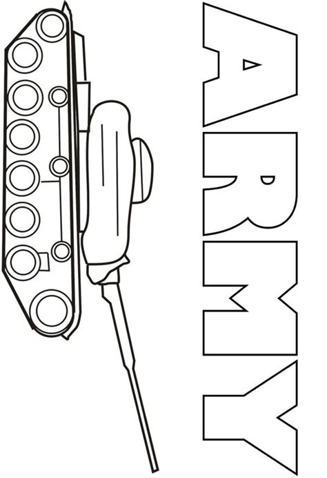 Army Tank Coloring Pages Coloring Army Tank Coloring Page