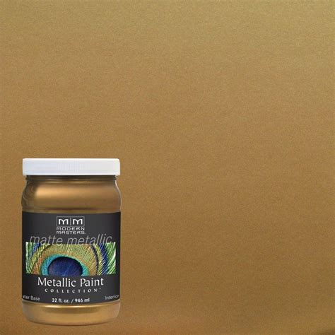 Metallic Interior Paint by Modern Masters 1 Qt Brass Matte Metallic Interior Paint