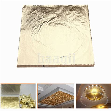 gold leaf home decor 100 imitation gold leaf foil paper gilding 14cm christmas