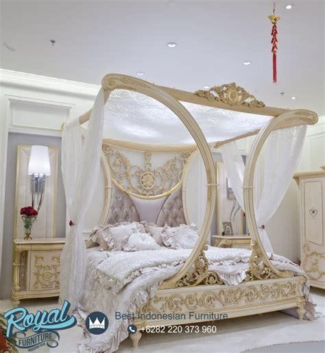 kamar tidur pengantin super mewah kanopi rafless ukiran jepara terbaru royal furniture indonesia