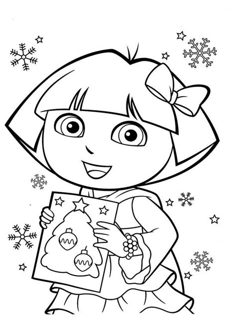 christmas coloring pages of dora the explorer dora the explorer christmas coloring pages coloring pages