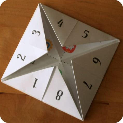 How To Make One Of Those Paper Fortune Tellers - 20 best ideas about paper fortune teller on