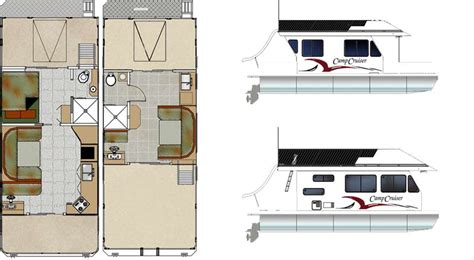 Custom Houseboat Sales And Manufacturing Floorplans Houseboat Blueprints