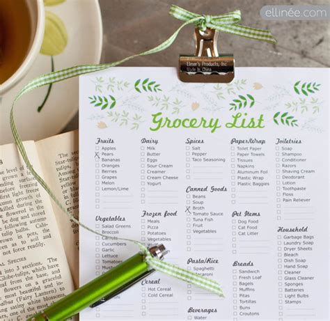 printable itemized grocery list 9 best images of itemized printable grocery list free