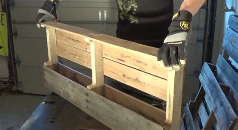 How To Make A Pallet Wine Rack by What This Transformed This Pallet Into Is