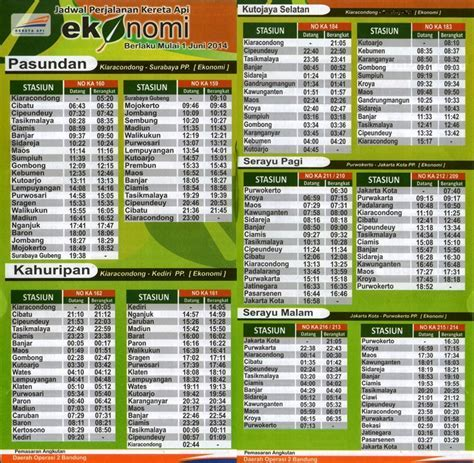 Jadwal Kereta Api Bandung   infobdg.com