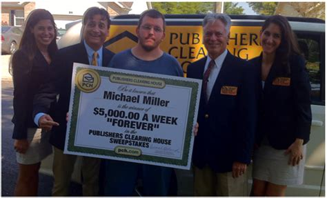 Winner Of 5000 A Week For Life From Pch - 5 000 a week quot forever quot prize winner michael miller is set for life pch blog