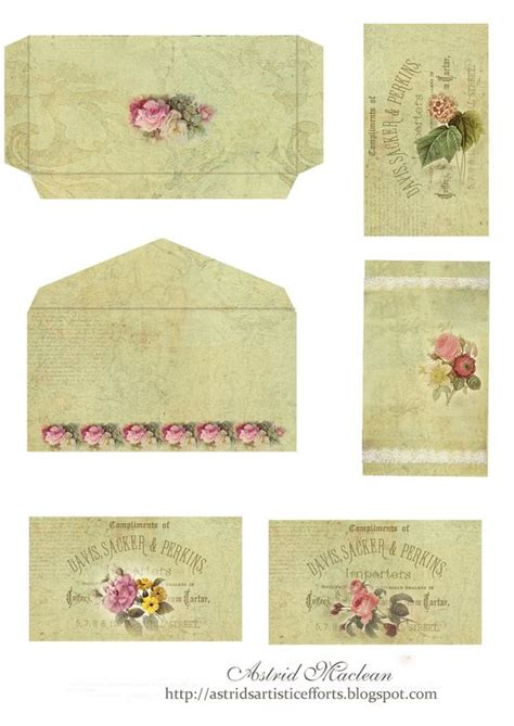 printable vintage envelope vintage tags envelopes and shabby vintage on pinterest