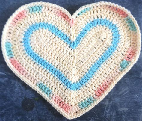 crochet pattern heart dishcloth crochet heart dishcloth favorite recipes pinterest