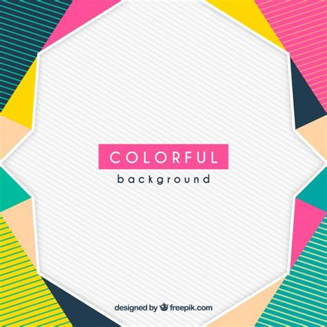 colorful design colorful geometric background vector free