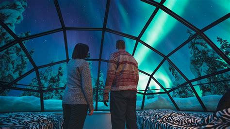 alaska igloo hotel northern lights igloos in finland the northern lights