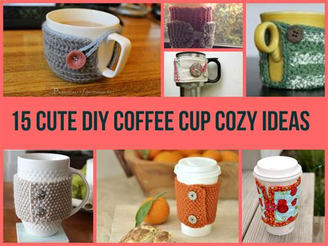 how to make designs on coffee 15 cute diy coffee cup cozy ideas