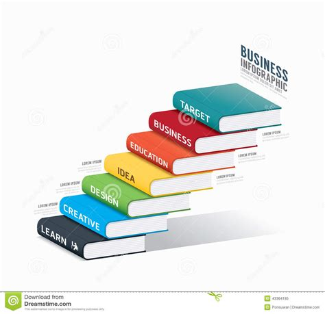 vector book infographic template business success concept